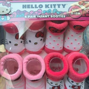 Hello Kitty Infant Booties 0-12M 4 pairs